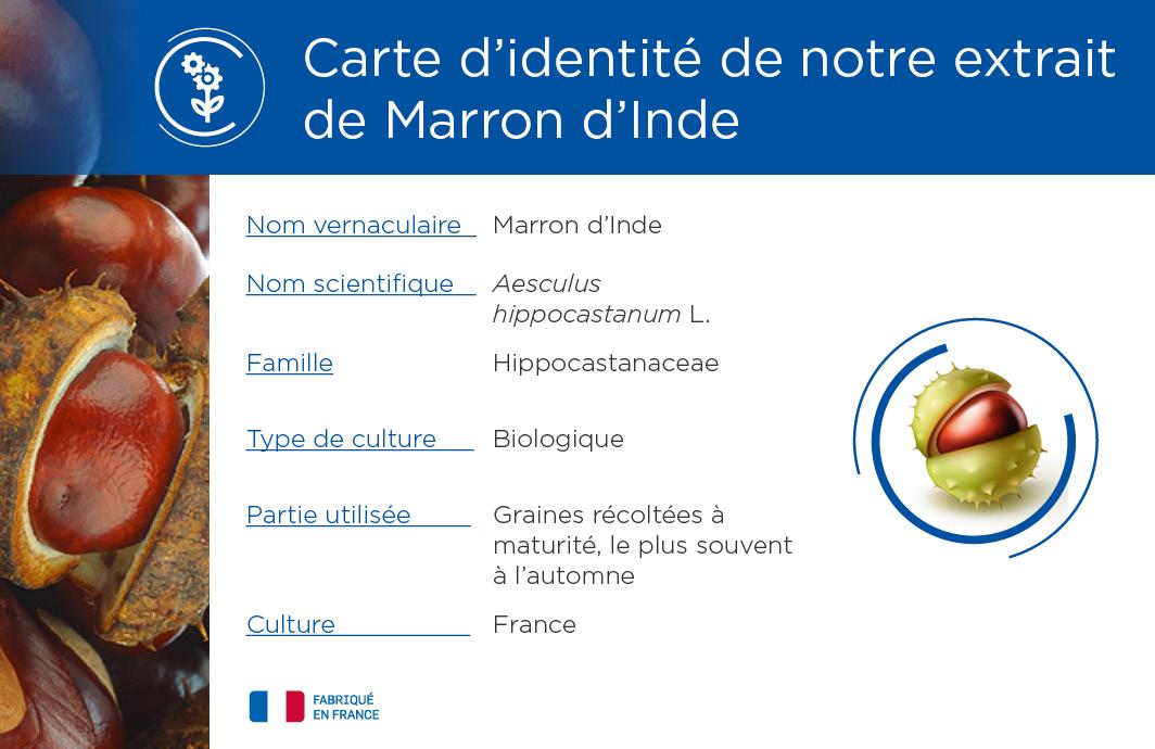 Carte identité Marron d'Inde